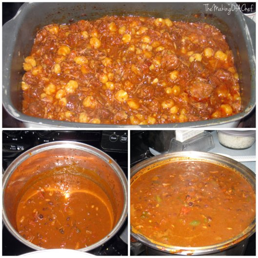 Top: My chiliBottom left: Megan's Chili Bottom Right: My grandfather's chili